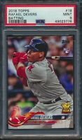 2018 Topps Series 1 #18 Rafael Devers Rookie Card RC Red Sox PSA 9 Mint