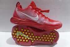 90083e600820 Nike Vapor Speed Turf Lax Football Trainer Shoes Red White Size 8.5
