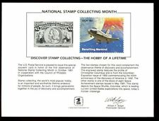 USA 1981 National Stamp Collecting Month Souvenir Card #C4644