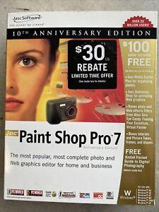 JASC Paint Shop Pro 7 Digital Imaging Editing Animation Photography Program