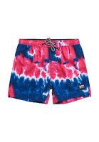Superdry Shorts Baño Hombre Tie Dye Volley Swim Pantalones Cortos Fucsia Tie Dye