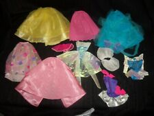 Vintage lot of MATTEL BARBIE GOWNS Dresses DANCE Skirts  Doll accessories #33