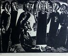 "Karl Schmidt-Rottluff ""Christ among woman"" 1919/1974 woodcut HAND SIGNED German"