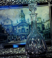 Vintage 25% lead crystal cut glass decanter with stopper High quality very heavy