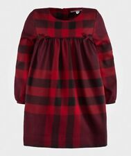 BURBERRY GIRLS RED PLAID ROCHELLA DRESS SIZE 5 YEARS NEW NWT Holiday Christmas