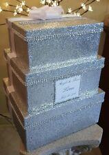 SIlver Glitter Wedding Card box