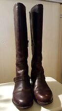 UGG Ladies Brown Leather Channing High Boots Size 3.5
