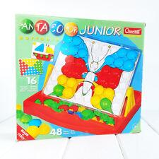 Quercetti Fantacolor Junior Portable Pegboard Set 4190 Kids Art Toy 16 Designs