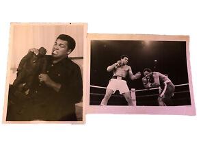 Muhammad Ali vs Joe Frazier 1975 Original ABC Photo w/ Letter Thrilla in Manila