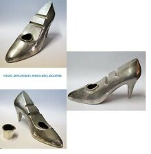 Funny rare old lady's SHOES silver plated inkwell pen stand 20 x 11 x 6 cm