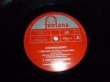 "ANDREW BERRY - Kiss Me I'm Cold - 1990 UK 4-track 12"" vinyl single"