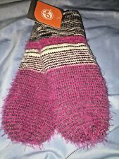 Magenta Pistil mittens gloves acrylic $38 fuschia  Pink Gray