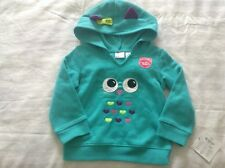 NWT Sz: 12M Girls Long Sleeve Hooded Zip Jacket by Jumping Beans, Cotton Blend