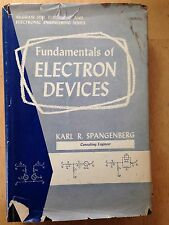 Fundamentals of Electron Devies by Karl R Spangenberg  Hardcover