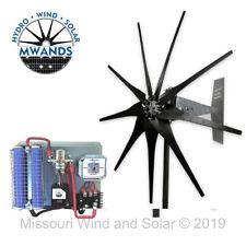 Missouri Freedom 12 Volt 1600 Watt 9 Blade Wind Turbine Generator Kit - Black