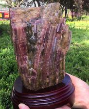 rare huge Watermelon Tourmaline Quartz Crystal Mineral Specimen Gemstone Matrix