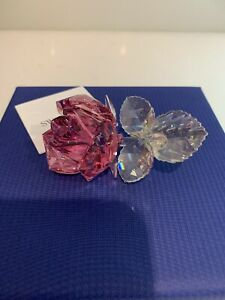 Swarovski Figurine Blossoming Rose Light Pink 5094612 NIB