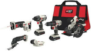 PORTER-CABLE 20V MAX Lithium Ion 6-Tool Combo Kit