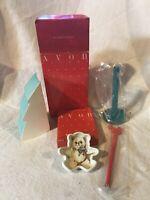 Vintage Avon Honey Bear Tea Bag Holder Gift Collection Christmas Tree Stationary