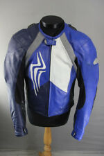 HEIN GERICKE PRO SPORTS LEATHER BIKER JACKET WITH REMOVABLE CE PROTECTORS: 38 IN