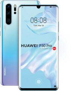Huawei P30 Pro 128GB 8GB RAM DUAL SIM Crystal, TOP Zustand, Display Burn-In