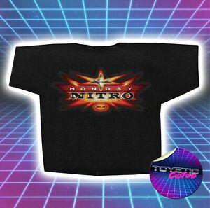 WCW Monday Nitro Logo Wrestling Figure T-shirt (Black) WWE WWF - Custom Handmade