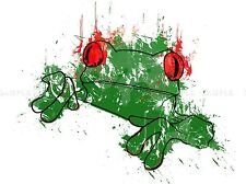 FROG ABSTRACT PAINT SPLATTER PICTURE ART PRINT POSTER JT007A