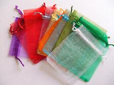 10pz misti sacchetti in organza colore vari 12x10cm bijoux
