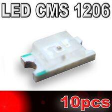 180/10# LED CMS 1206 rouge -180mcd -SMD RED - 10pcs