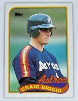 1989 Topps Craig Biggio #49 Rookie Card RC Houston Astros HOF