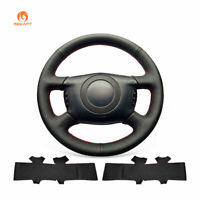 Black Artificial Soft Leather Steering Wheel Cover for Audi A4 A6 A8 S4 Allroad