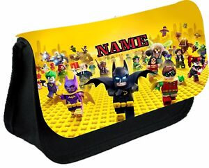 Lego Batman Movie Personalised Pencil Case, make up bag, school any name