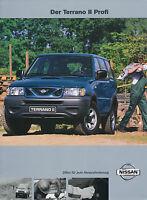 Nissan Terrano II Profi Prospekt 2001 4/01 Autoprospekt brochure Auto brosjyre