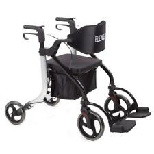 Folding Transport Chair Innovative Medical Walker Rollator Detachable Footrests