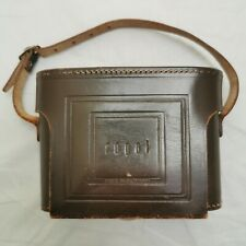 Vintage Royal Camera Case. Brown Leather. Made In Germany. Folding Camera Bag.