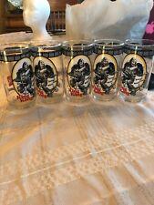Set Of 5 Vintage 1977 King Kong Coca-Cola Glass