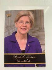 ELIZABETH WARREN 2020 Pieces of Past Series 1 Presidential Edition Base Card #3