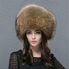 new Genuine Real fashion Winter Women fox fur New Hat Cap Headgear Beanie B6