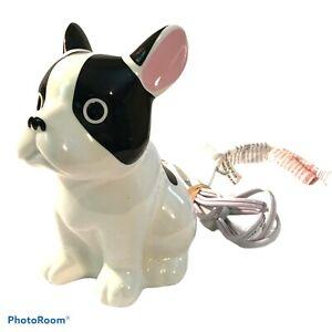 TARGET FRENCH BULLDOG / BOSTON TERRIER NIGHT LIGHT LAMP CERAMIC DOG WITH SWITCH