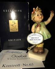 "Goebel M.I.Hummel ""FOREVER YOURS"" #014 Hum 793 TMK-7 W/box , Medallion & COA"