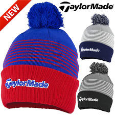 TAYLORMADE GOLF BOBBLE BEANIE / THERMAL FLEECE LINED GOLF HAT / ALL COLOURS