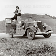 Ford Model B V8 woody car photographer camera 1936 photo CHOICES 5x7 or request