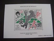 MONACO 1990 ITALY WORLD CUP COMMEMORATIVE MINIATURE SHEET MS1986 MNH Cat £22.00