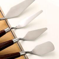 5PCS Set Stainless Steel Palette Knife Scraper Spatula for Artist Oil Painting