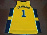 Throwback Jamal Crawford #1 Basketball Jerseys Yellow All Stitched