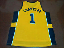 Throwback Jamal Crawford #1 Basketball Jerseys Yellow All Stitched