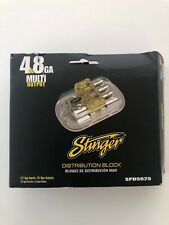 L@K! Stinger Spd5625 Pro Series Maxi Fused Power Distribution Block 4 to 8 Awg