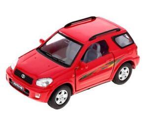 "New 5"" Kinsmart Toyota Rav4 Diecast cAR Model Toy SUV 1:32 Red"