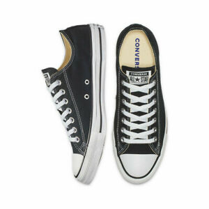 Converse Chuck Taylor All Star Black Lo Tops Unisex Canvas Sneaker Trainers