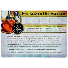 WQ36 CARTE FYRESLAYER DOOMSEEKER VF WARHAMMER QUEST SILVER TOWER BITZ